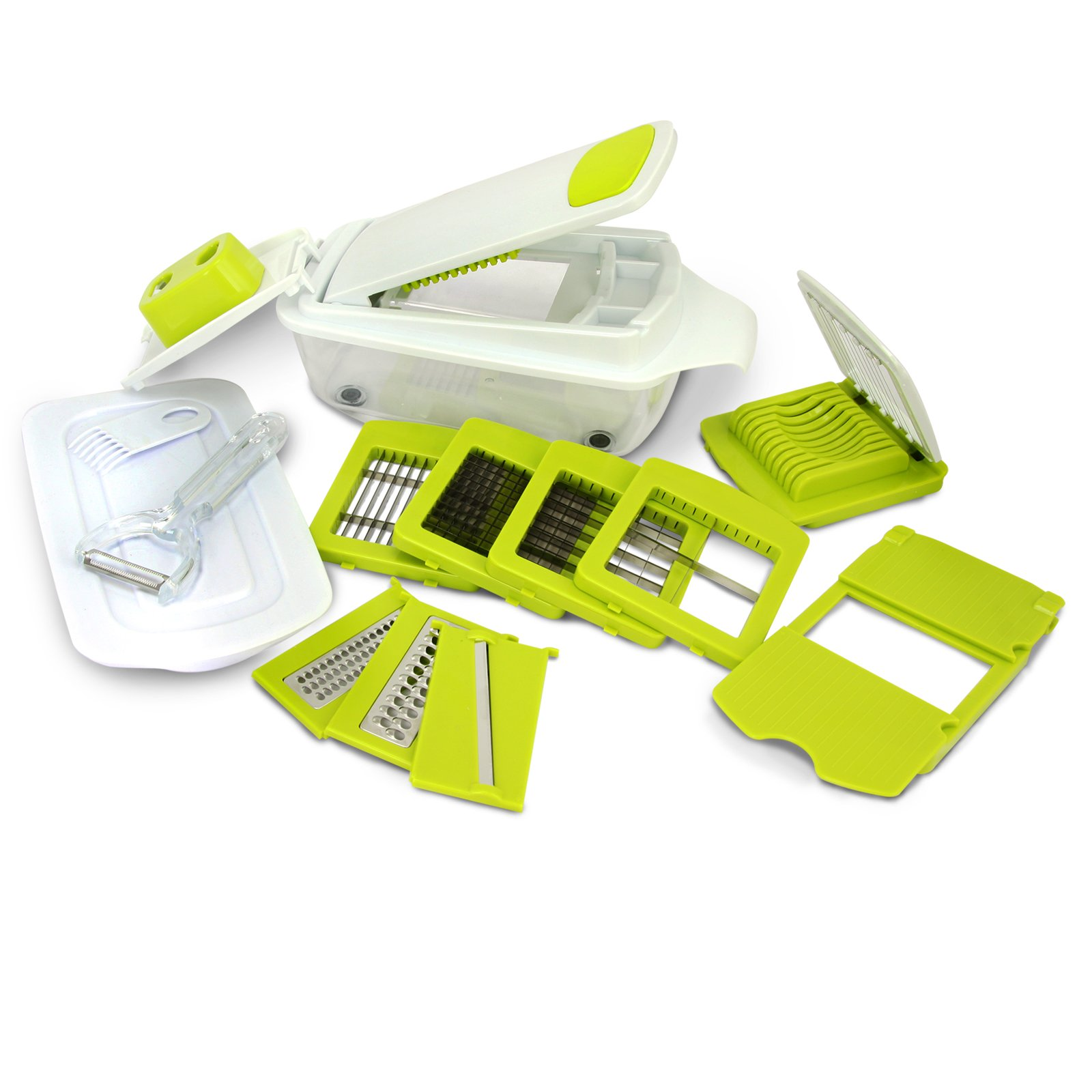 MegaChef 8-in-1 Multi-Use Slicer Dicer and Chopper Kitchen Multi-Use Tool Mandoline, Vegetable and Fruit Peeler and Soft Slicer