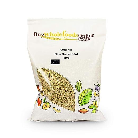 Buy Whole Foods Online Organic Buckwheat Raw, 1 Kg by Buy Whole Foods Online Ltd.