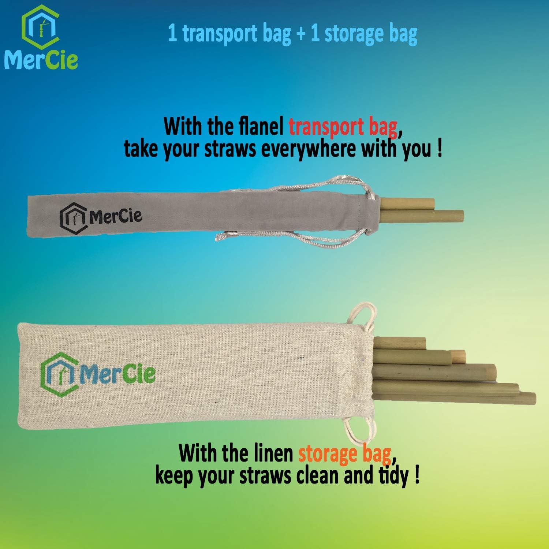 cepillo de limpieza largo 20 cm Embalaje sin pl/ástico 1 bolsa de almacenamiento de ropa 1 bolsa de transporte de franela Ecol/ógico y duradero verde Paja de bamb/ú biodegradable y reutilizable