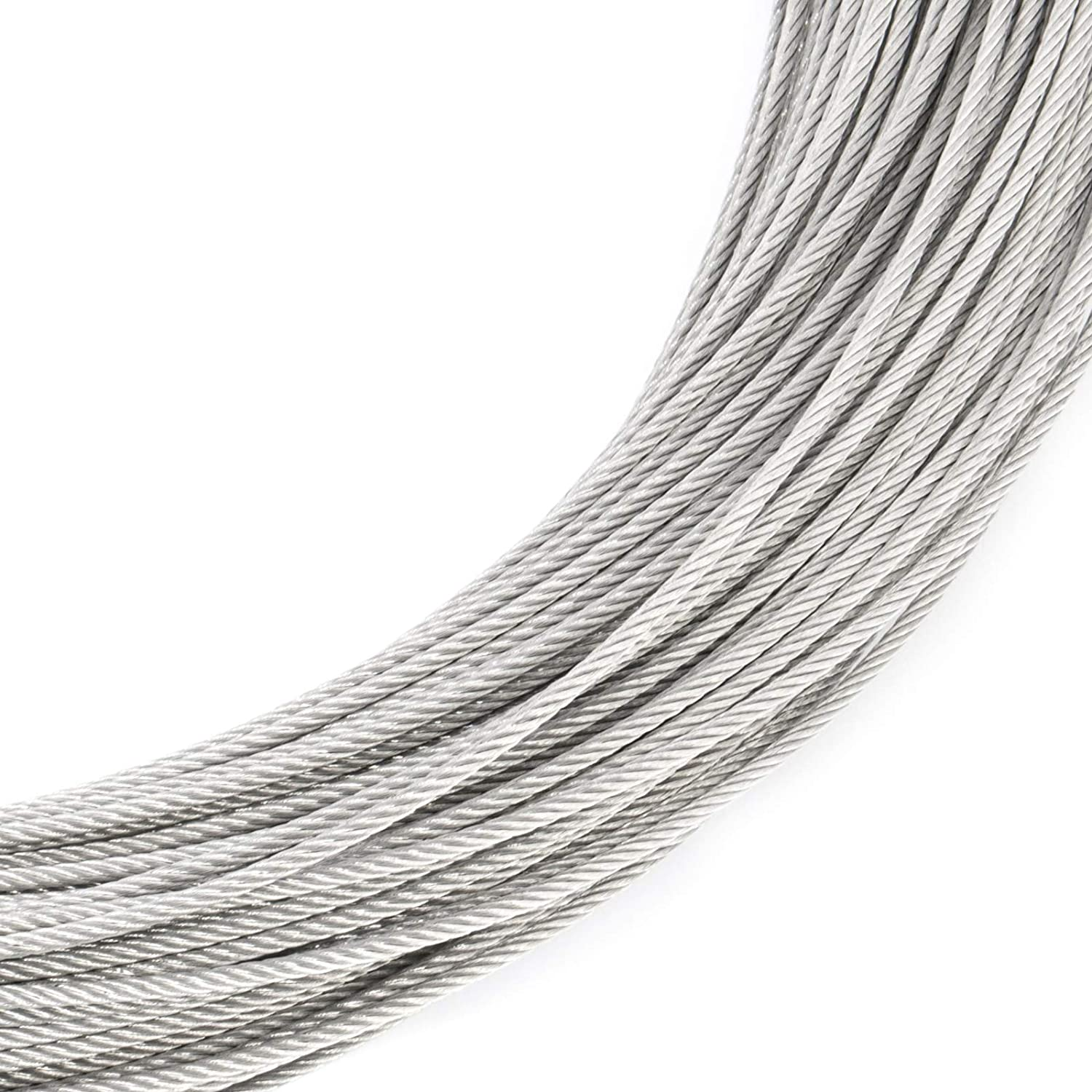 High-Quality Galvanised Steel Wire Rope Metal Cable Length: 1m, Thickness: 1.5mm