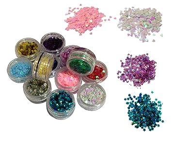 Amazon premium nail art nailart manicure glitter confetti premium nail art nailart manicure glitter confetti shapes for 3d designs prinsesfo Image collections