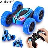 (Blue) - AHIROT RC Cars Remote Control Stunt Car - 2.4GHz 360 Degree Off-Road Double Sided Rotating Tumbling High Speed Rock Crawler Vehicle with Headlights for Kids / Children (Blue)