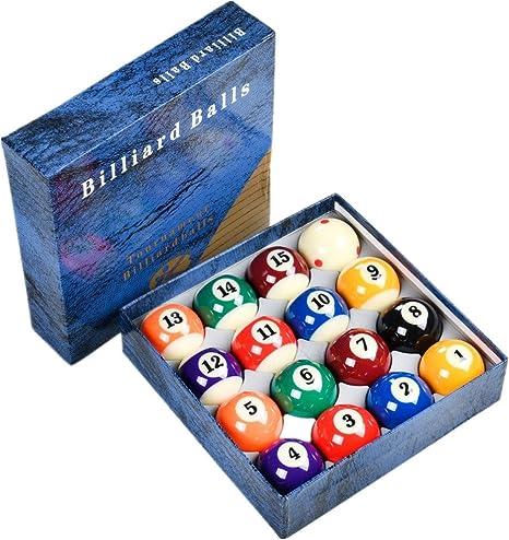 Loto AAA - Juego de Bolas de Billar estándar para torneos (tamaño 2-1/4