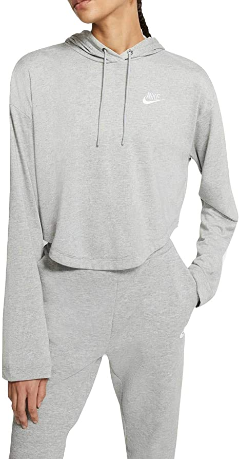 Instituto crisantemo cristal  Amazon.com : Nike Women's Sportswear Jersey Hoodie (Dk Grey Heather,  X-Large) : Clothing
