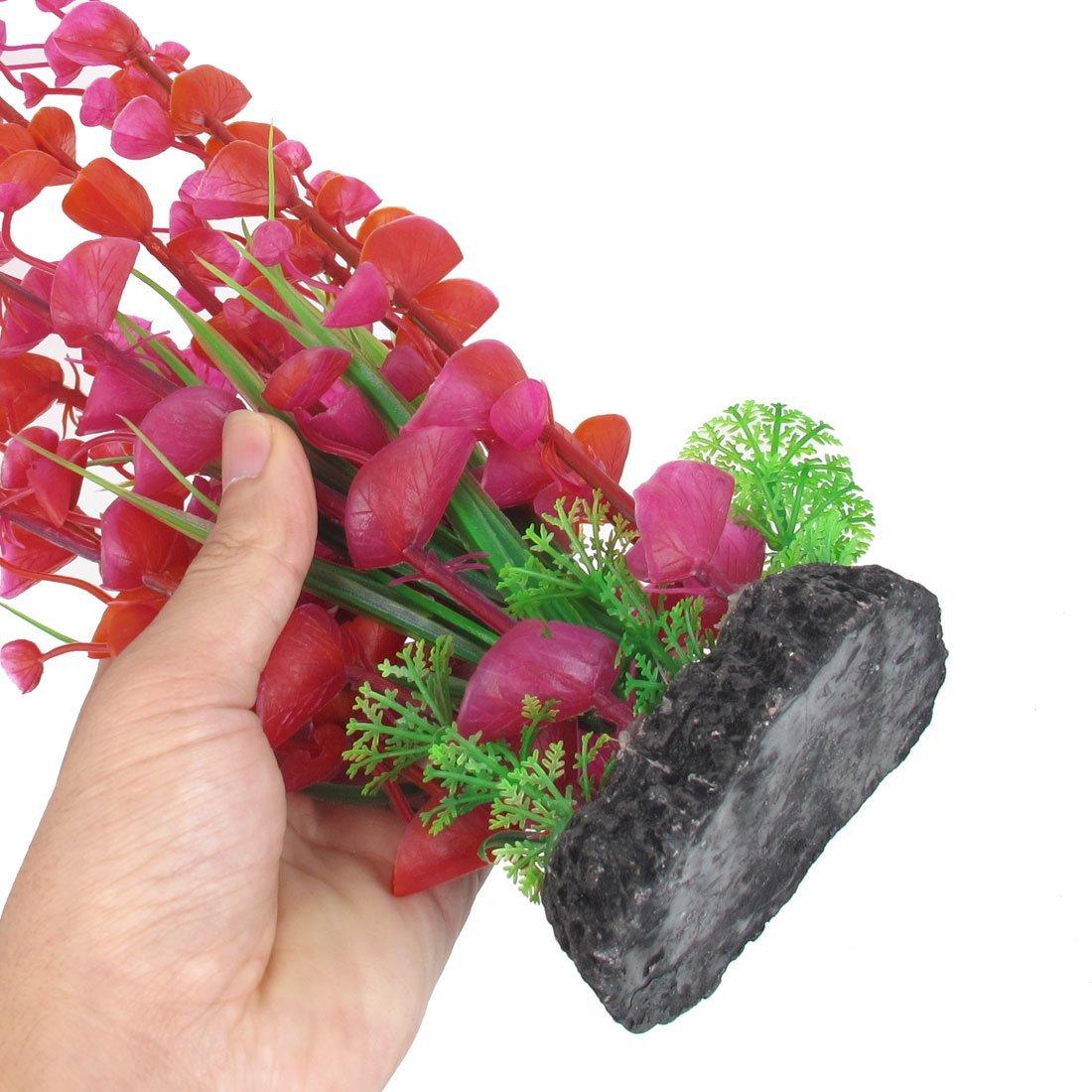 Amazon.com : eDealMax DE 3 piezas de hierba de agua de la planta del ornamento del acuario Artificial, Azul/púrpura / Rojo : Pet Supplies