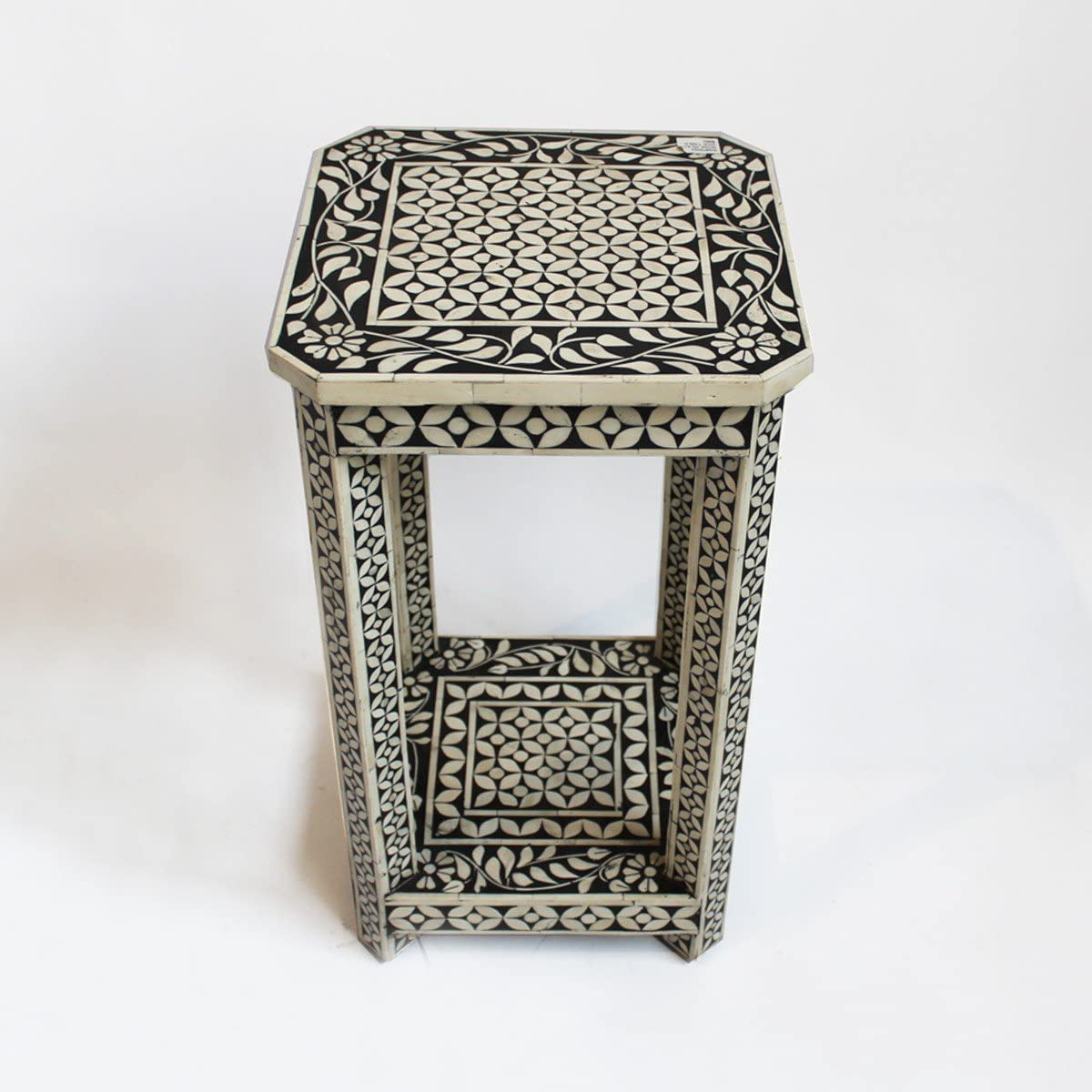 Bone Inlay Modern Antique Handmade End Table