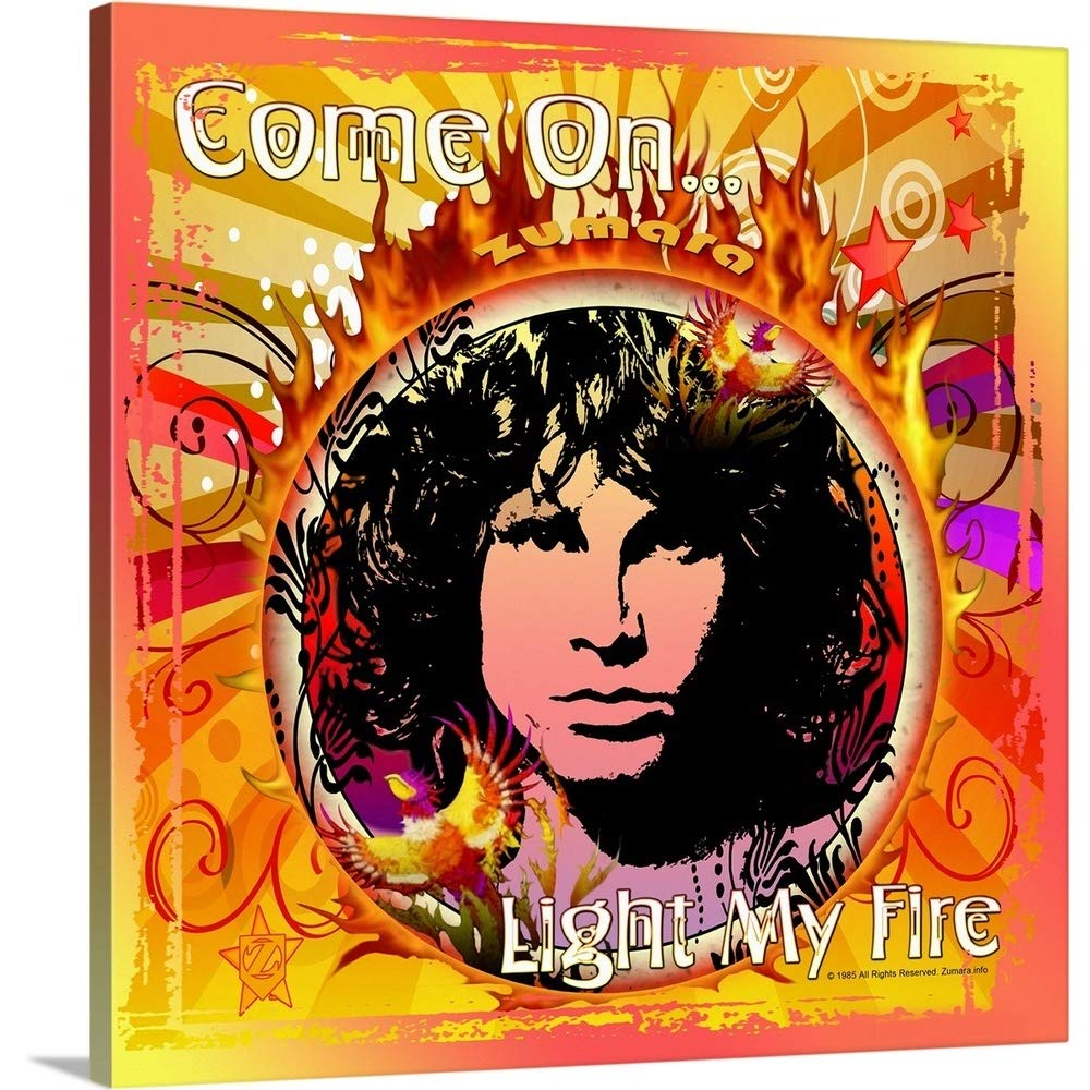 Gallery-Wrapped Canvas Entitled Jim Morrison Light My Fire 2 Great Big Canvas 20''x20''