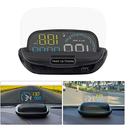 Coche HUD Head-up Display Parabrisas Proyector OBD2 4 pulgadas ...