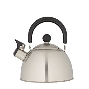 Copco 2503-0300 Kettering Brushed Stainless Steel Tea Kettle, 1.3 Quart