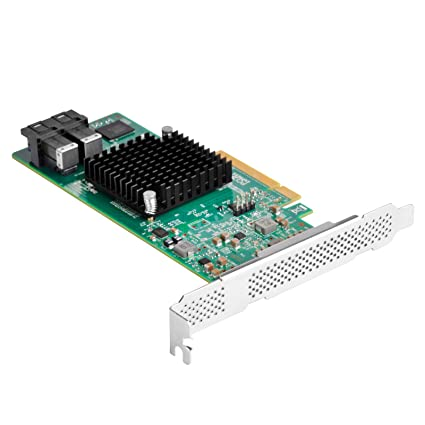 Silverstone SST- ECS05 - Tarjeta PCI-E Express Gen 3.0 categoría Servidor x8 SAS(12Gb/s) / SATA(6Gb/s) Controlador de Puertos LSISAS3008, acepta ...