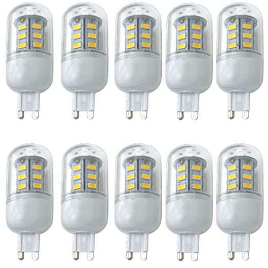aoxdi bombillas LED G9 4 W maíz lámparas, blanco cálido, G9 LED Luz Bombillas