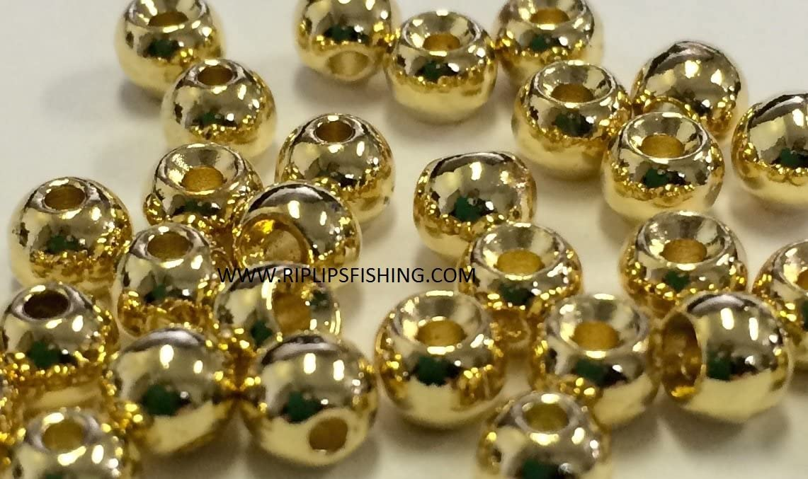 """TUNGSTEN FLY TYING BEADS GOLD 1.5 MM 1//16/"""" 100 COUNT"""