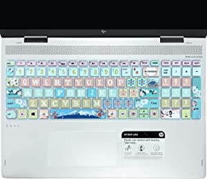"SANFORIN Keyboard Cover for HP Envy x360 15m-bp/bq /2020 2019 HP Pavilion 15/ HP Pavilion x360 15.6"" Series/HP Envy 17 17.3"" Series/HP Laptop 15t 17t 17-ca0011nr 17-by0040nr, Sakura"