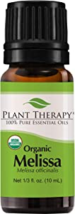Plant Therapy Melissa Organic Essential Oils 100% Pure, USDA Certified Organic, Undiluted, Natural Aromatherapy, Therapeutic Grade 10 mL (1/3 oz)
