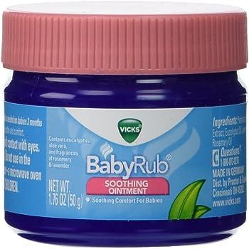Amazon Com Vicks Babyrub Soothing Chest Rub Ointment 1