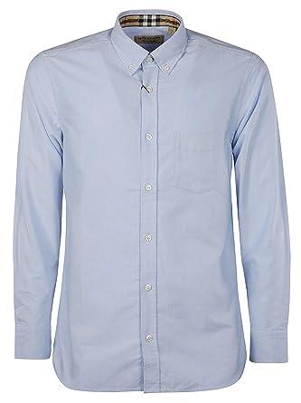 cf7390fba7a6 BURBERRY Homme 8003068 Bleu Coton Chemise  Amazon.fr  Vêtements et ...