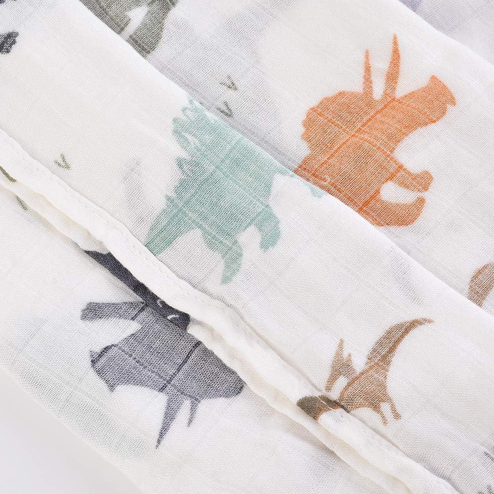 SODIAL Dinosaurio, Recién Nacido, Hilado Recubierto, Manta De Algodón De Bambú, Toalla De Ba?o Para Bebés: Amazon.es: Bebé