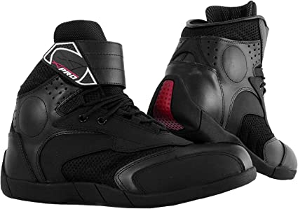 Chaussures Moto Motard Piste Racing Vetements Sportifs Cuir Homme noir 40