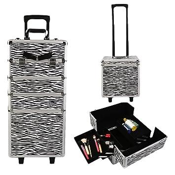 Aluminio Carrito de belleza caja cosmética bolsa peluquería belleza caso con ruedas trolley de maquillaje profesional maquillaje de belleza caja cosmética ...