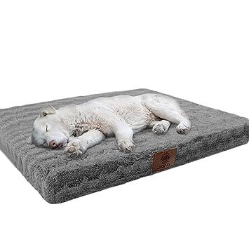 Amazon.com: Cama ortopédica para mascotas, Gris: Mascotas