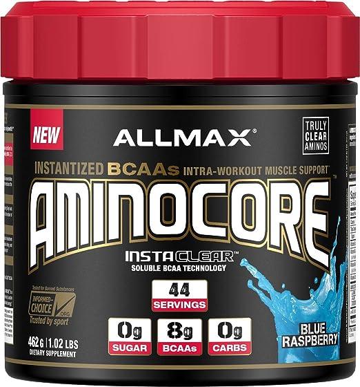 ALLMAX Nutrition Aminocore BCAAs, 100% Pure 45:30:25 Ratio, Blue Raspberry, 462 g