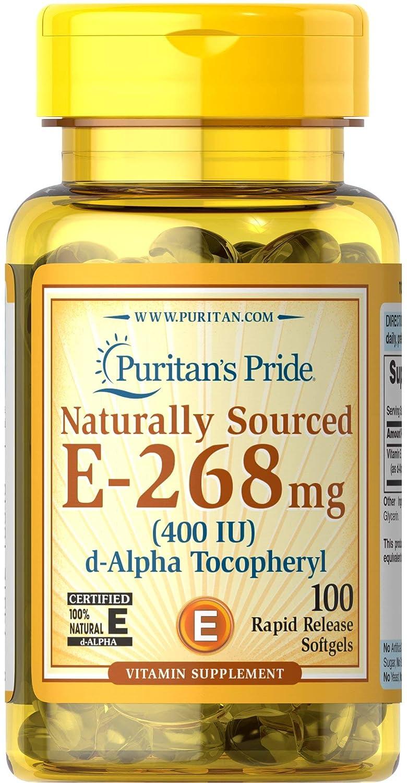Vitamina E 400 IU - 100 perlas. E400. 1 und.: Amazon.es: Salud y cuidado personal