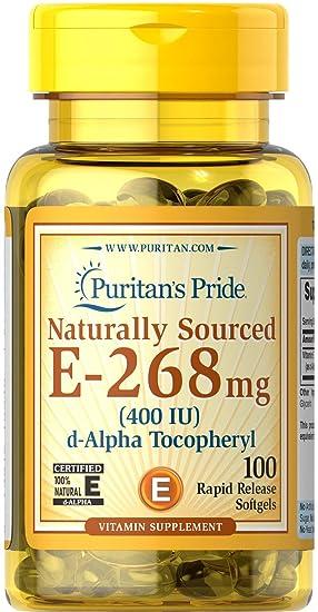 Vitamina E 400 IU - 100 perlas. E400. 1 und.: Amazon.es ...