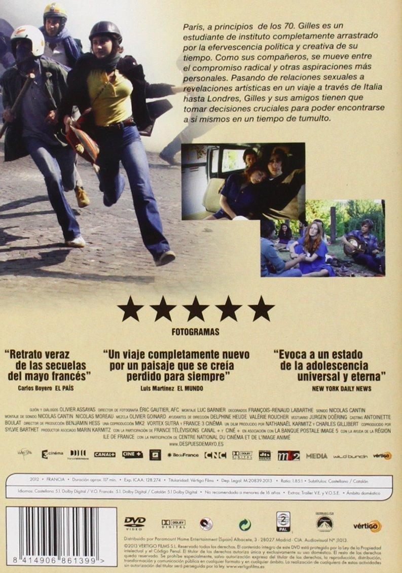 Después De Mayo [DVD]: Amazon.es: Lola Créton, Dolores Chaplin, Victoria Ley, India Menuez, Nathanjohn Carter, Nick Donald, Clement Metayer, Carole Combes, ...