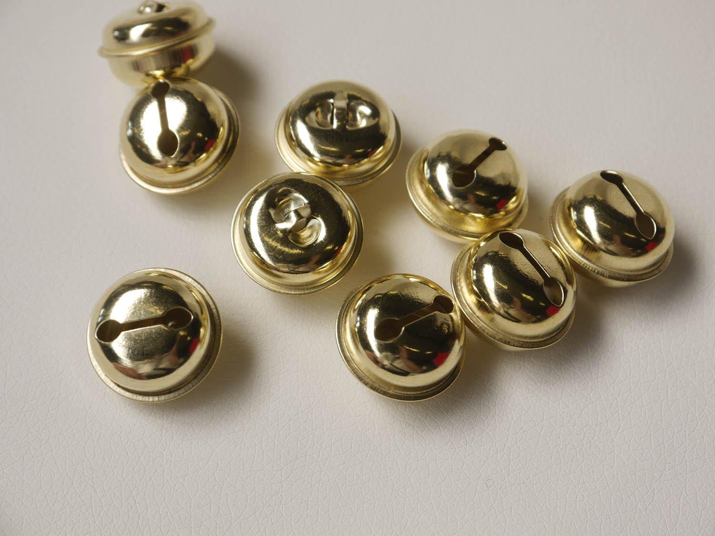 argent 10x Clochettes 25mm Cloche Colliers de serrage avec oeillet