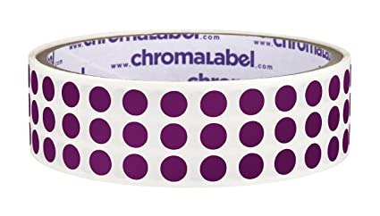 ChromaLabel 1/4 inch Color-Code Dot Labels | 1,000/Roll (Purple)