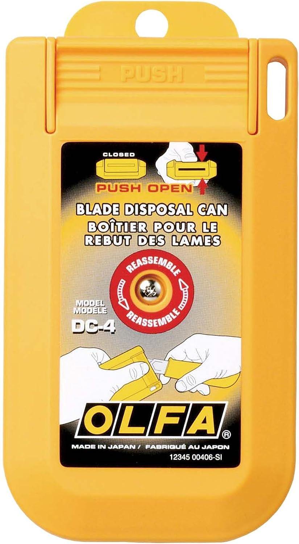 Olfa 640401 Contenedor de seguridad para cuchillas usadas con tapa