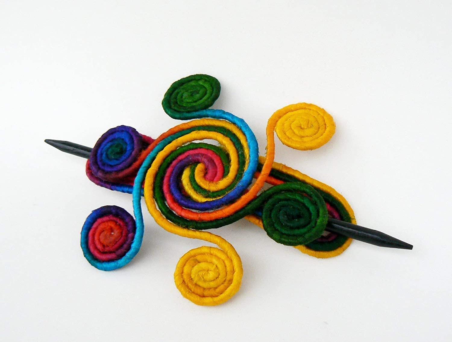 Hair Stick barrette Brooch shawl pin Hair slide clamps Thick Hair clip Colorful Fascinator Wire wrapped accessory