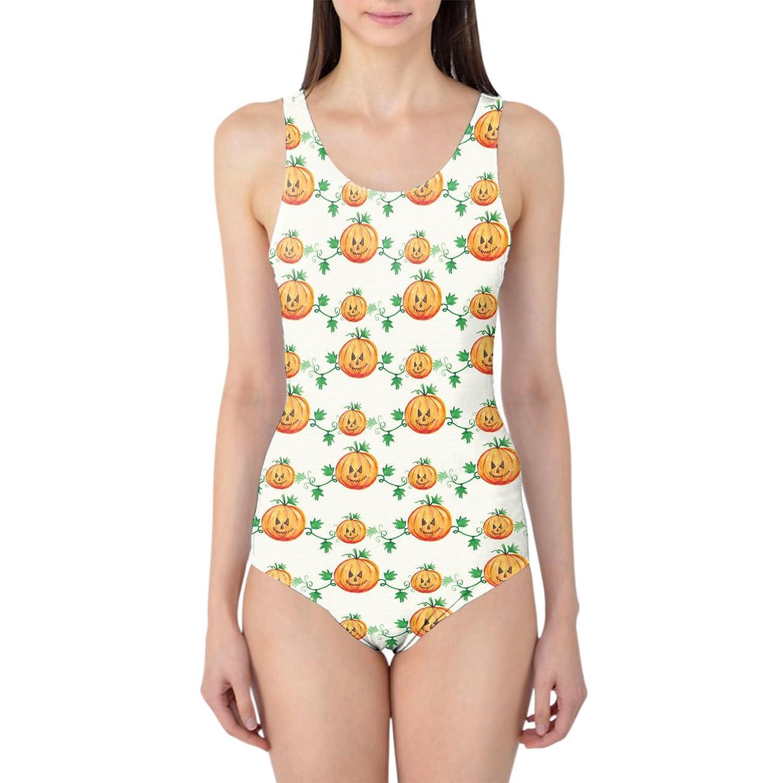 Watercolor Pumpkins Women's Swimsuit Badeanzug XS-3XL