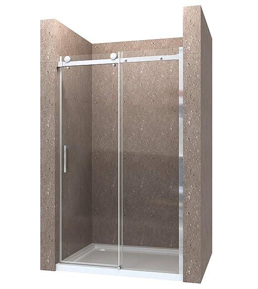 100cm Duschabtrennung Duschtür Nischentür Schiebetür Duschwand 8mm