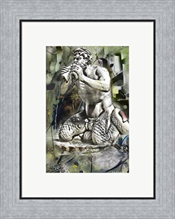 Amazon Green Navona Abstract By Robert Michaels Framed Art