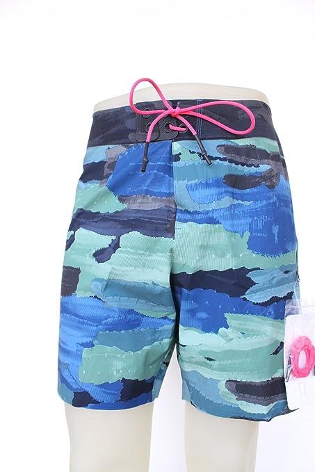 "6f08d0e8b6 Lululemon Men's El Current Short 9"" Linerless Shorts, Green/Blue, Size  38"