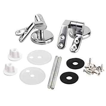 wooden toilet seat hinges. Toilet Seat Hinges Pair of Chrome Finished Replacement For Wood  Seats Including Fittings by