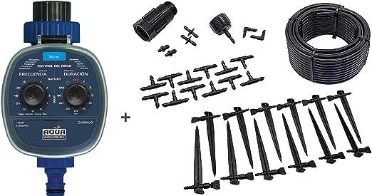 Programador C4099O + Kit micro-riego para 12 plantas con Reductor de Presión.: Amazon.es: Jardín