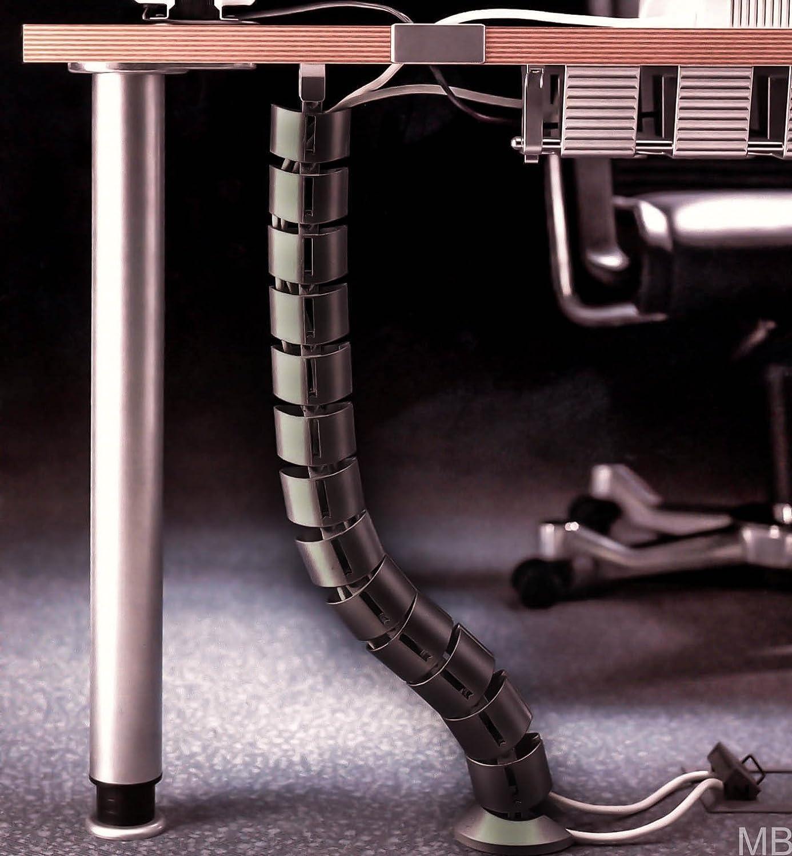 SO-TECH® Schreibtisch Kabelkanal Kabeldurchführung Kabelführung Kabelspirale