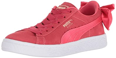 PUMA Baby Suede Bow Slip On Sneaker Paradise Pink, 4 M US Toddler