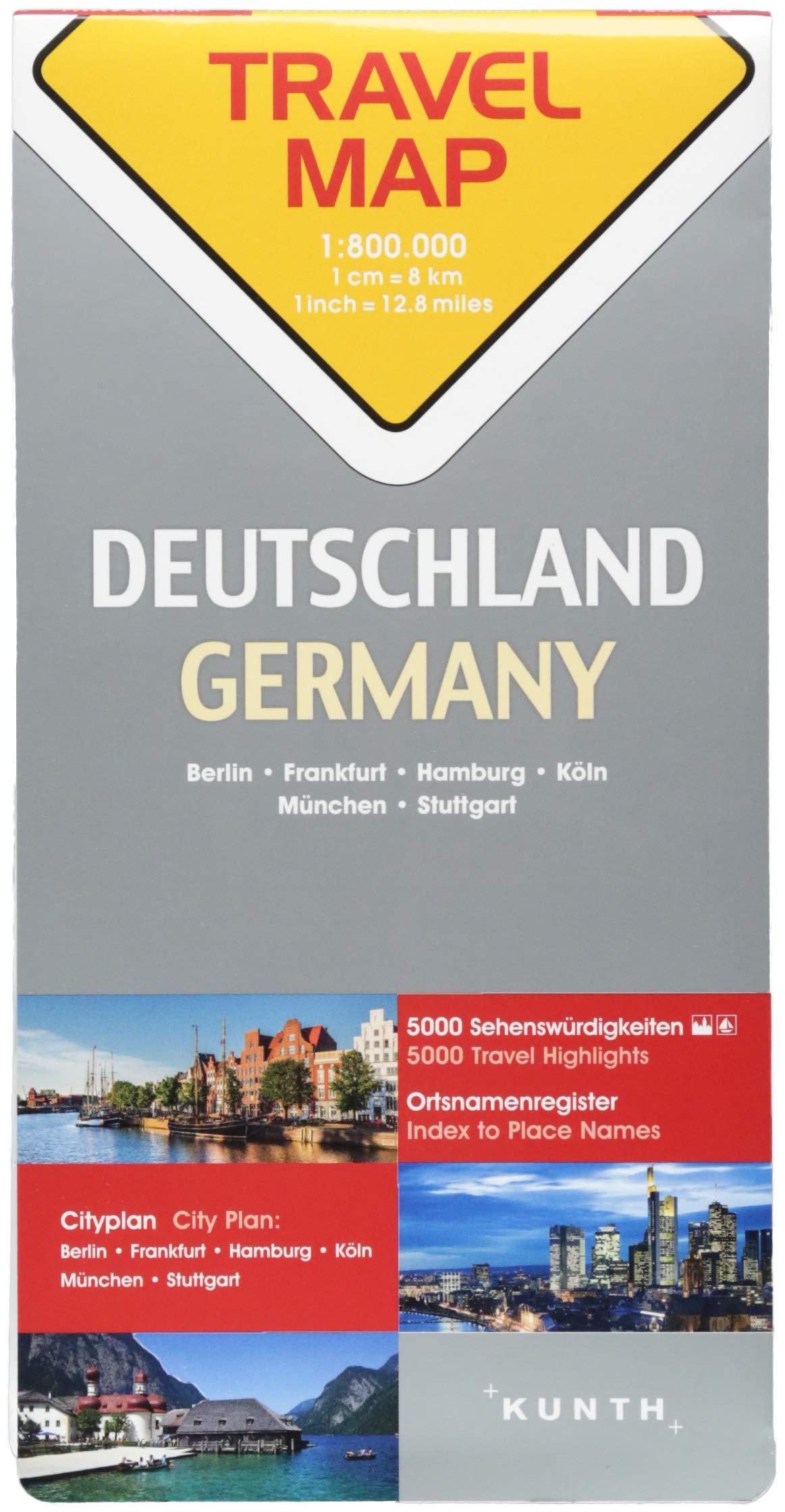 Reisekarte Deutschland 1:800.000: Travel Map Germany: Amazon.de: Bücher