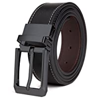 Tonly Monders Men's Belt Leather Reversible Black Brown