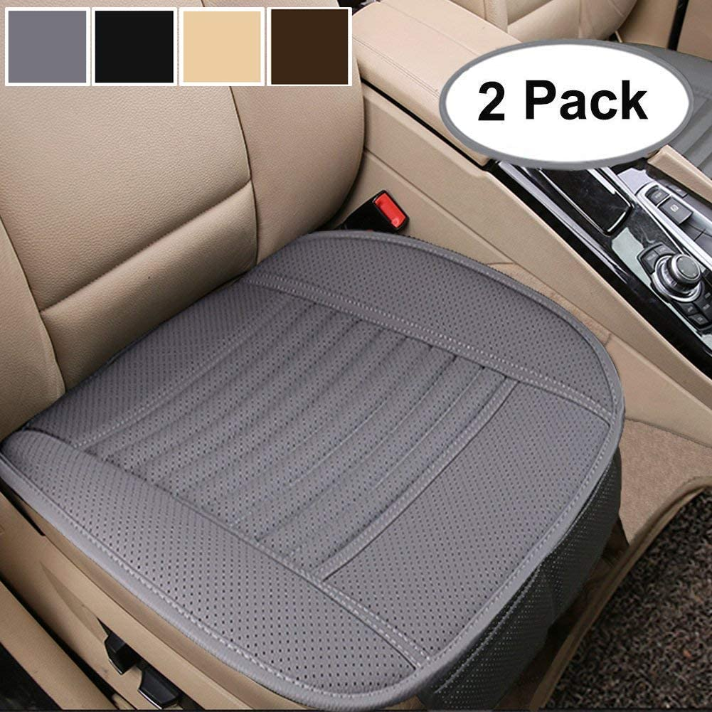 Breathable Front Car Seat Cushion Cover Protector PU Leather Chair Pad Mat CLI