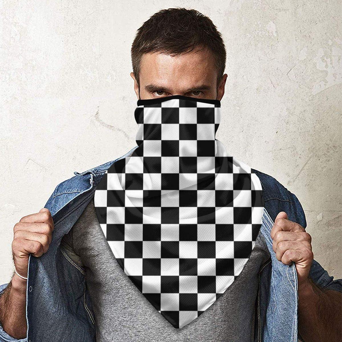 unisex tama/ño talla /única dise/ño de cuadros color negro color blanco y negro Nonebrand color blanco y negro Polainas para el cuello