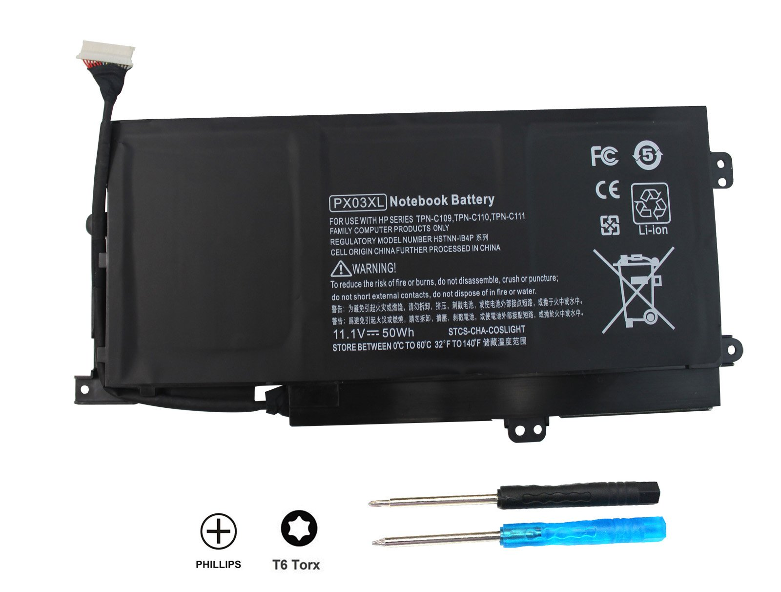 SKY BOY PX03XL Compatible HP Laptop Battery Envy 14 Touchsmart M6 M6-K K002TX K022DX M6-K122DX M6-K125DX M6-K025DX M6-K010DX M6-K012DX M6-K015DX M6-K022DX M6-K015DX 715050-001 TPN-C109 C110 C111