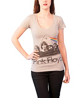 8e2d9ebff4554c Pink Floyd T Shirt Dark Side Of The Moon Official Womens Junior Fit V Neck