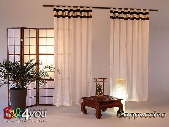 Gardinen Vorhänge  Bali Style CoCo Himmelbett – Betthimmel Baldachin Vorhänge 2er Set