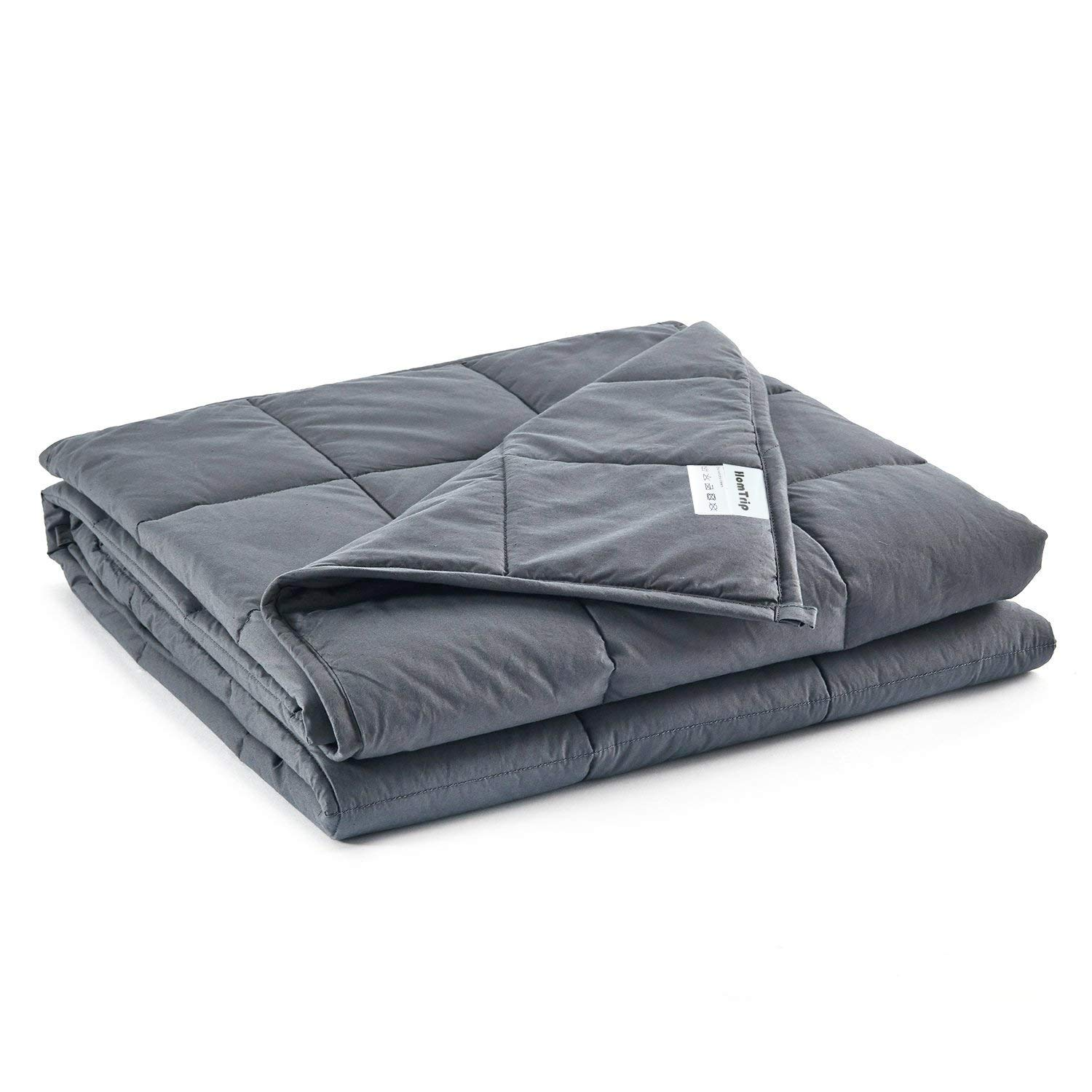 Weighted Blanket 7lbs 40''x60'' - Heavy Blanket with 100% Cotton and Glass Beads, Ideal for Youth & Kids Between 50 to 80 lbs