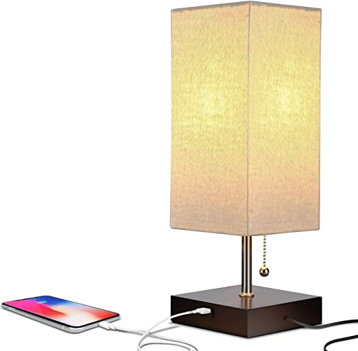 DFQX Lámpara de Mesa USB - Lámpara de mesilla de Noche, lámpara de ...