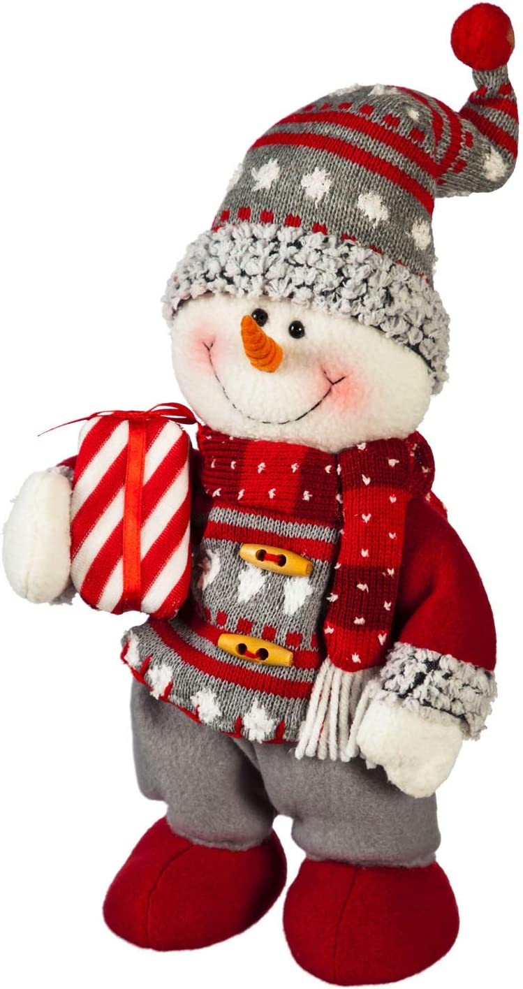 Cypress Home Beautiful Dancing Snowman Animated Musical Plush Table Top Décor - 8 x 7 x 13 Inches Indoor/Outdoor Decoration for Homes, Yards and Gardens